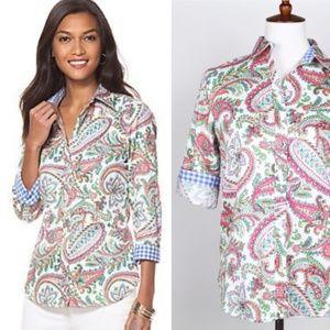 Chaps | Paisley Print No Iron Button Down Shirt